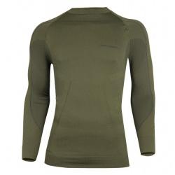45a6816b235667 koszulka termoaktywna męska BRUBECK THERMO - khaki : BRAMGÓR
